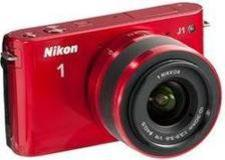 Nikon 1 J1 Digital Camera Body with 10-30mm VR Lens (Red) - Factory Refurbished includes Full 1 Year Warranty